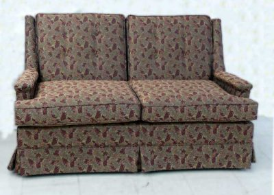 BrownFloralLoveseat