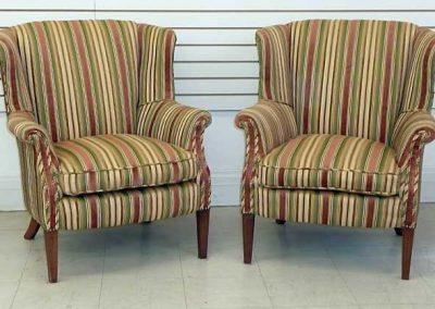 PairStripedWingchairs